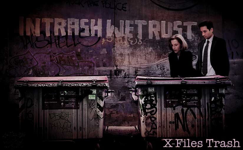 X-Trash – A flaming trash receptacle of X-Files fan works +